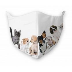 Mascherina Lavabile Cani e Gatti