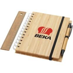 Blocco note in bambù B6 con...