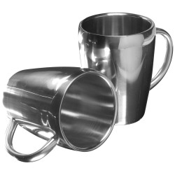 Set 2 tazze in acciaio inox...
