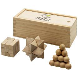Rompicapo in legno 3 pezzi...